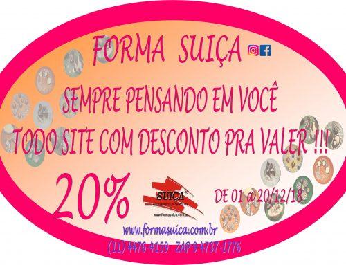 Promoção Todo Site 20% de Desconto (de 01/12 a 20/12/2018)